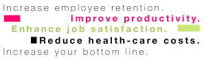 Ciara Foy Increase employee retention Improve productivity Enhance job satisfaction Reduce health-care costs Increase your bottom line
